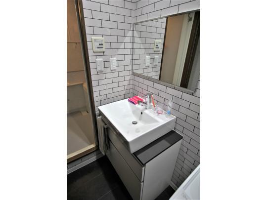 デザイン性あふれる洗面台