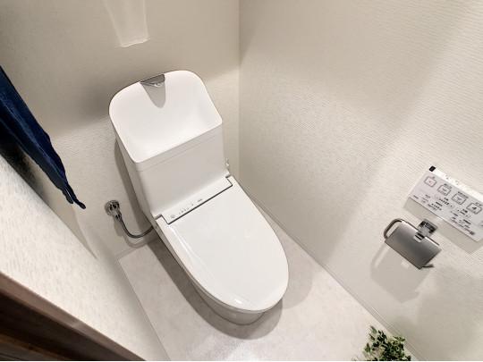 リフォーム済みマンションのならでは、新品未使用のトイレです