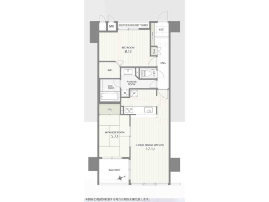 2005年年築の築浅マンション。トランクルームや宅配ロッカーなど設備も充実しています。