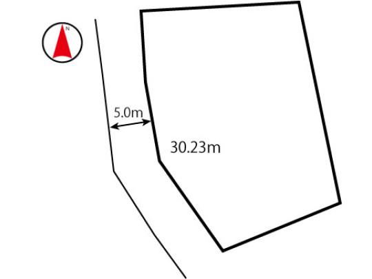 公道 西側 幅員:約5.0m