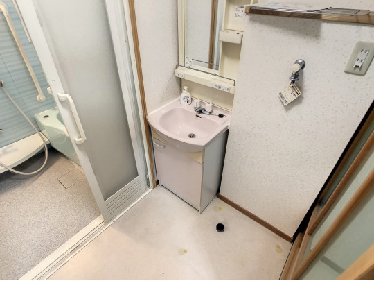 清潔感のある洗面所です