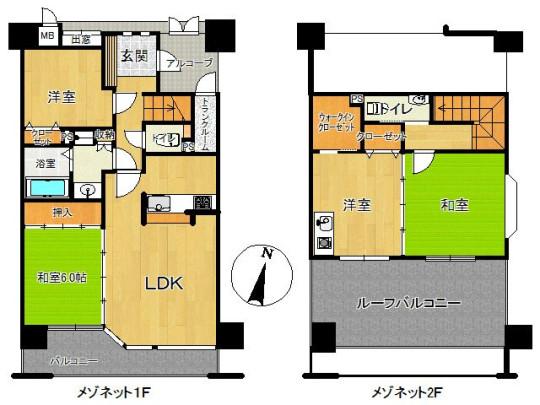 100平米を超えるメゾネットタイプのマンションです。