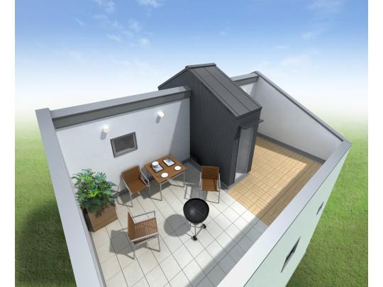 ※イメージ図 ルーフデッキでは思い思いの屋上のある暮らしを楽しめます。