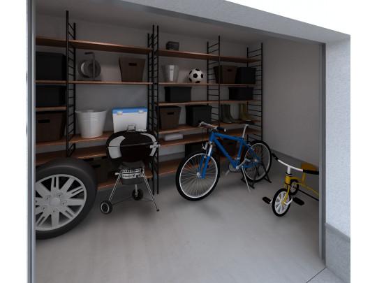 ※イメージ シャッター付きのアウトストレージ。バイクガレージなどに。
