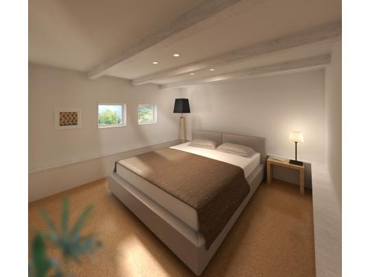 ※イメージ 天井高を抑えたインナーストレージは寝室にピッタリです。