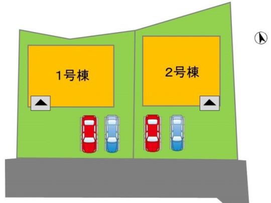 車を2台駐車できるのでご夫婦用や来客用としてもご利用できます。