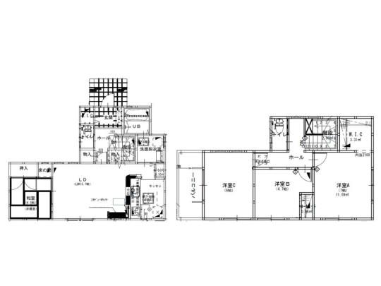 LDK+和室で20帖以上!全居室南向きの明るい室内です☆収納スペースも充実しています!