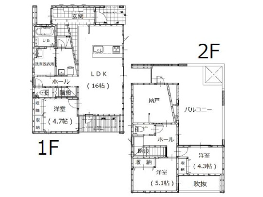 3LDK+S、土地面積176.18m2、建物面積110.36m2