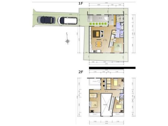 4LDK、土地面積170.25m2、建物面積117.91m2 吹き抜けの解放感のあるリビングは20帖超え!玄関と階段の間にリビングがあるので、みんなが顔を合わせる機会が自然に多くなります(^^♪