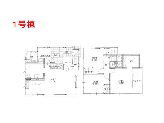 3LDK、土地面積117.89m2、建物面積92.12m2