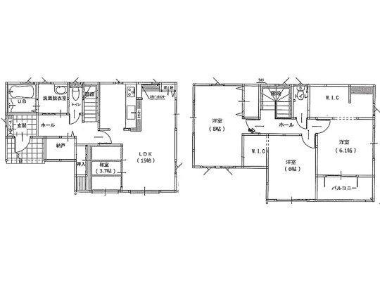 4LDK+S(納戸)、土地面積135.03m2、建物面積105.16m2 収納豊富な間取りです☆