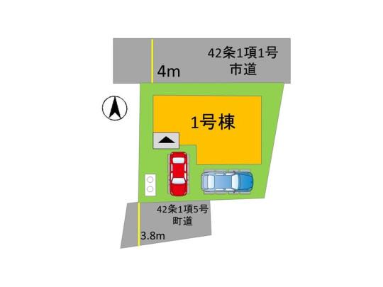 車を2台駐車できます。 駐車場でバーベキューやお子様の家庭用プールも楽しめますね♪