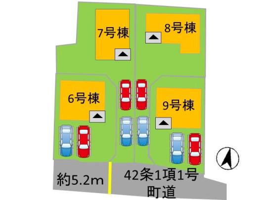 区画図:6号棟