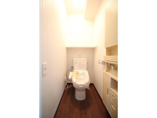 新品に交換済みのウォシュレット付のトイレです。