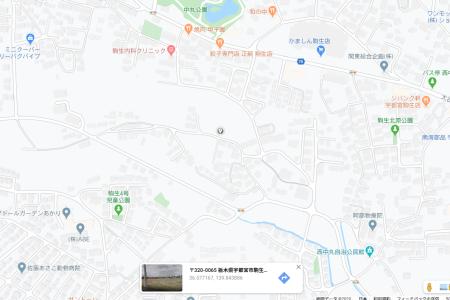宇都宮市駒生町字山ノ越